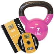 Gofit GF-KBELL7D Premium Vinyl-Dipped Kettlebell With Training DVD, Magenta