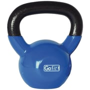 Gofit GF-KBELL20 Vinyl-Dipped Blue Kettlebell With Training DVD, Blue