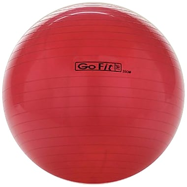 Gofit GF-55BALL Exercise Ball With Pump, Red