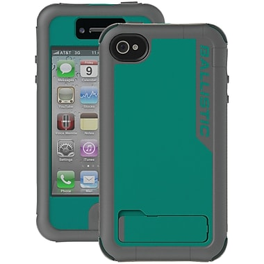 Ballistic® Every1 Case For iPhone 4/4S, Charcoal/Turquoise