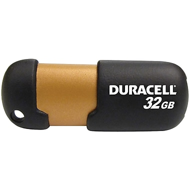 Duracell® 32GB Capless USB 2.0 Pen Drive, Black/Copper