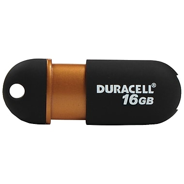 Duracell® 16GB Capless USB 2.0 Pen Drive, Black/Copper