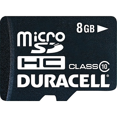 Duracell® microSD™ 8GB Card With Universal Adapter