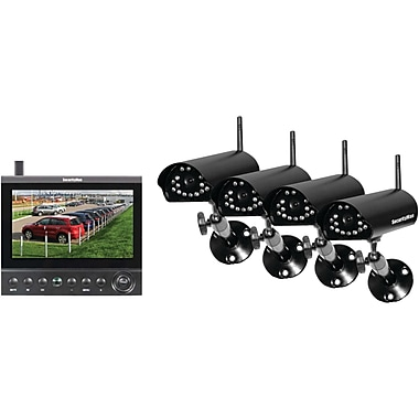 SecurityMan® 4-CH Wireless Security System With 7in. LCD/SD Recorder and 4 Wireless Cameras