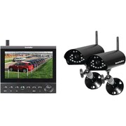 "SecurityMan® 4-CH Wireless Security System With 7"" LCD/SD DVR and 2 Cameras"