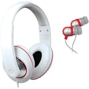 i.Sound® 2-in-1 Sound Kit Dj-style Headphones and Earbuds, White