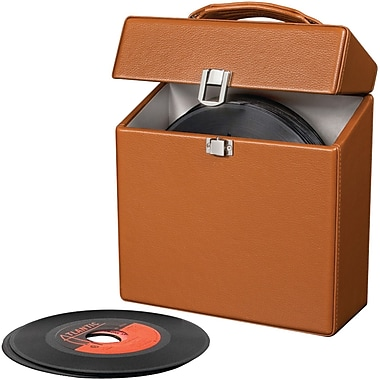 Crosley Radio CR4006A-TA Platter Pak 45 RPM Carrying Case, Tan
