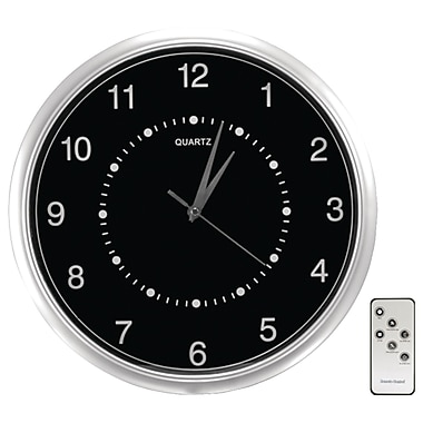 SecurityMan® CLOCKCAMDVR Wall Clock Color Camera With Micro SD Recorder and Remote Control