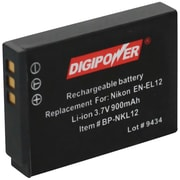DigiPower® BP-NKL12 3.7 VDC 900 mAh Lithium-ion Rechargeable Replacement Battery