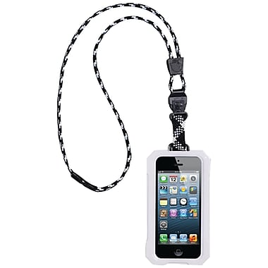 Dri Cat 11060P Neck it Waterproof Case With Lanyard For iPhone 5, White/Black