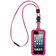 Dri Cat 11060P Neck it Waterproof Case With Lanyard For iPhone 5, Pink/White
