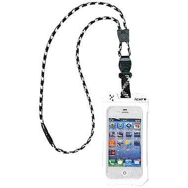Dri Cat 11043CP Neck it Waterproof Case with Lanyard For iPhone 4/4S, White/Black