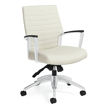 Global Accord Fabric Executive Office Chair, Fixed Arms, Stone (QS26714ALS108)
