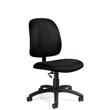 Global® Goal Jenny Fabric Low Back Task Chair, Ebony