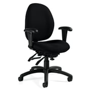 Global Malaga® Molded Foam Computer and Desk Office Chair, Black Coal, Adjustable Arm (QS31413TDBKUR22)