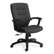 Global Synopsis Sprinkle Fabric Medium Back Tilter Chair, Graphite