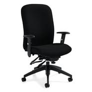 Global Truform Jenny Fabric Heavy Duty High Back Multi-Tilter Chair, Ebony