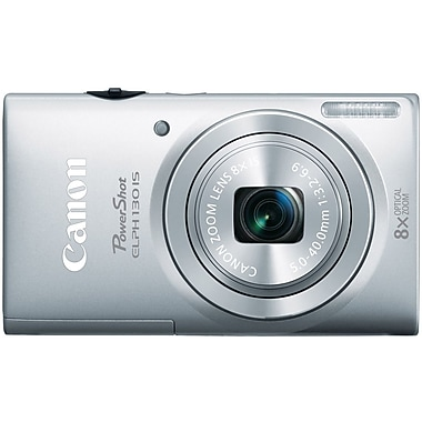 Canon® PowerShot ELPH 130 IS Compact Digital Camera, 16 Mega Pixels, Silver