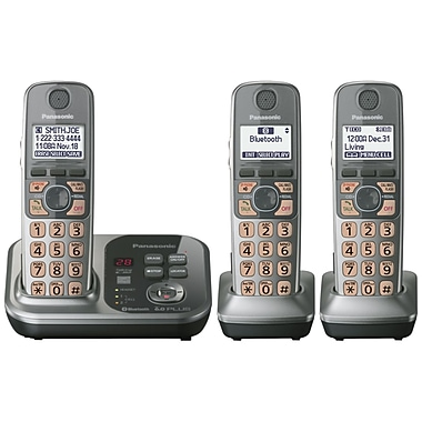 Panasonic KX-TG7733S DECT 6.0 Cordless Phone, 50 Name/Number