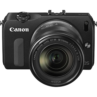 Canon® EOS M 18 MP 3in. LCD Mirrorless Camera, Black