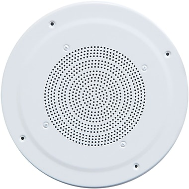 Speco Technologies® G86-TG White Dual Paper Cone Classic Grille Ceiling Speaker With Transformer