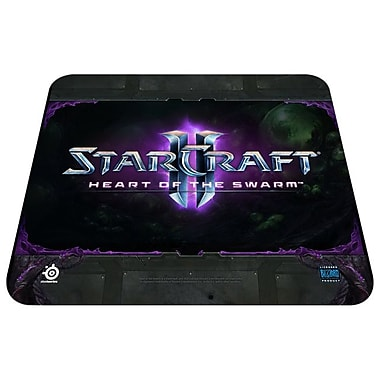 Steel Series QcK 10.6in.(D) StarCraft II HotS Logo Edition Mouse Pad, Black