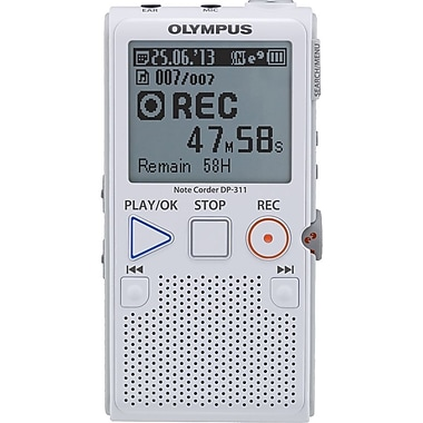 Olympus® DP-311 2GB Digital Voice Recorder, White