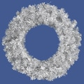 Allstate Unlit Sparkling Silver Tinsel Artificial Christmas Wreath
