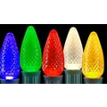 Sienna C9 LED Faceted Transparent Christmas Replacement Bulb, 25/Pack, Multi-Color