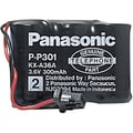 Panasonic HHR-P301A/1B 3.6 VDC Ni-Cd Cordless Phone Battery, 350 mAh