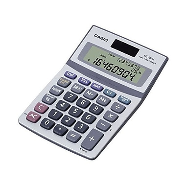 Casio® MS-300M 3 Lines x 8 Digits Display Desktop Calculator