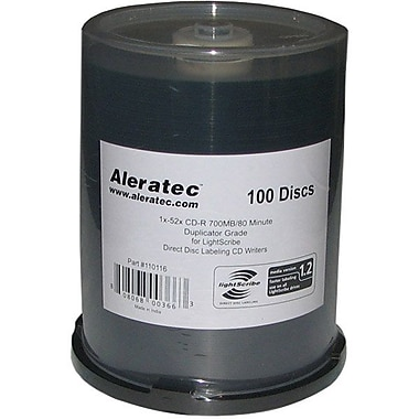 Aleratec™ 700MB Duplicator Grade in a Cake Box CD-R, Spindle, 100/Pack