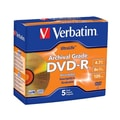 Verbatim® UltraLife 4.7GB 8X Archival Grade DVD-R, Jewel Case, 5/Pack