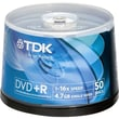 Imation TDK® 4.7GB DVD+R, Spindle, 50/Pack