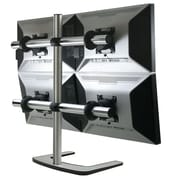 Visidec VFS-Q-TAA Quad Desk Stand for 27 Monitor, Silver