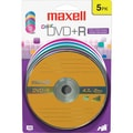 Maxell 4.7GB DVD+R, Blister, 5/Pack