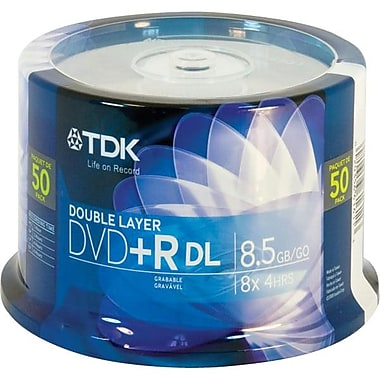 Imation 8.50GB Dual layer DVD+R, Spindle, 50/Pack