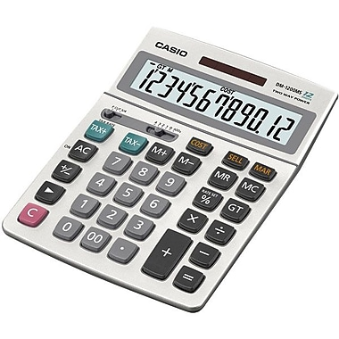 Casio® DM-1200MS-S-IH Simple Calculator