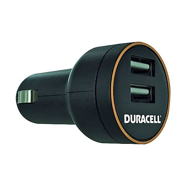Duracell® Auto Adapter 5V Dual USB 2A Vehicle Charger With Smart Current
