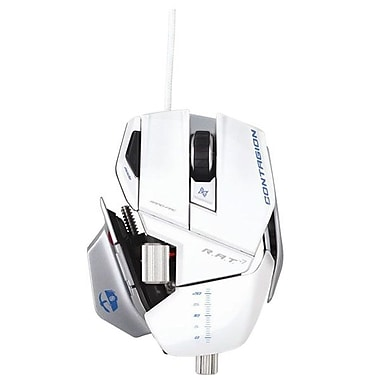 Mad Catz® MCB4370800C1/04/1 R.A.T. 7 Cable Gaming Mouse, White