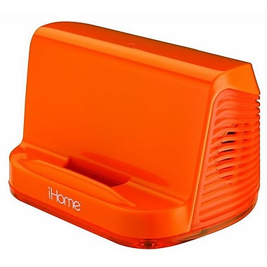 SDI Technologies™ iHM16 Portable Stereo Speaker System, Neon Orange