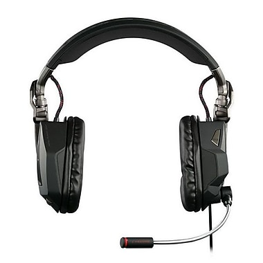 Mad Catz® Cyborg MCB4340300 Over-the-Head Headset, Gloss Black
