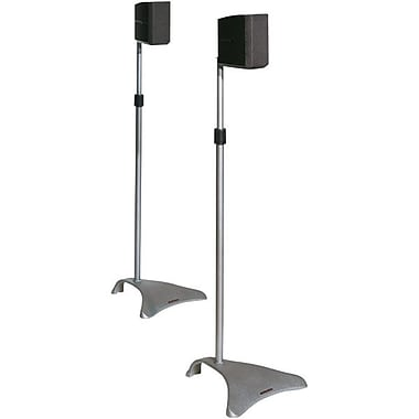 Atlantic® SPSCUR47 Satellite Speaker Stand, Titanium