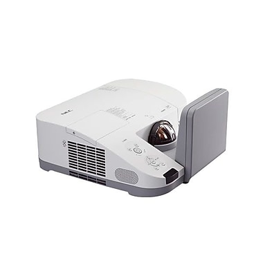 NEC NP-U300X-WK1 DLP Ultra ShortThrow Projector With Wall Mount, XGA