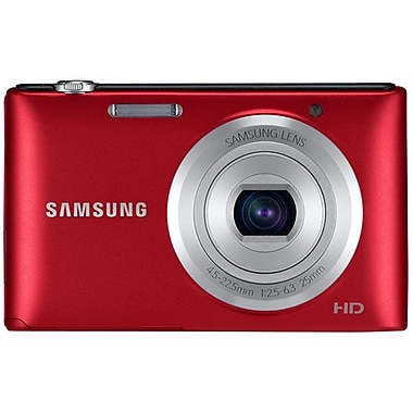 Samsung ST72 16.5 Mega Pixels Digital Camera, Red