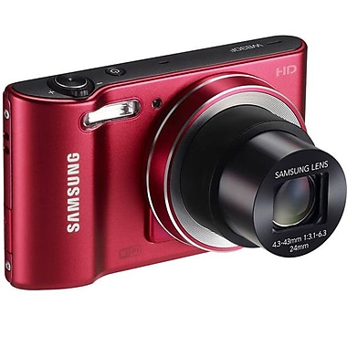 Samsung WB30F 16.6 Mega Pixels Digital Camera, Red
