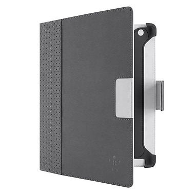 Belkin™ Cinema Dot Carrying Case With Stand For iPad, Dark Gray/Light Gray