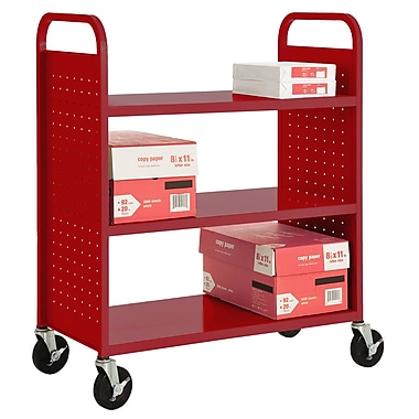 Sandusky® 46in.H x 39in.W x 19in.D Steel 3 Shelf Flat Book Trucks
