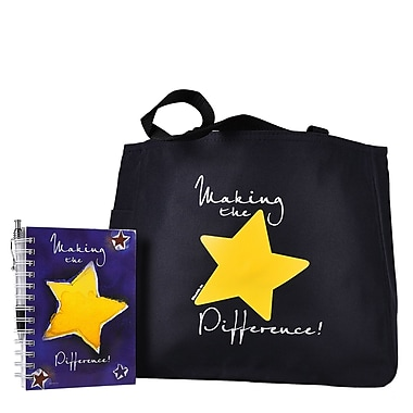 Baudville® Tote Bag With Journal And Pen, Making the Difference