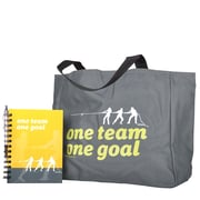 Baudville® Tote Bag With Journal And Pen, One Team, One Goal